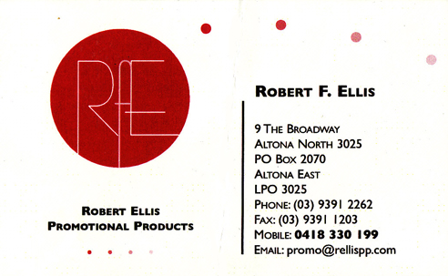 Robert ellis promotional product contact details download business card reheart Images